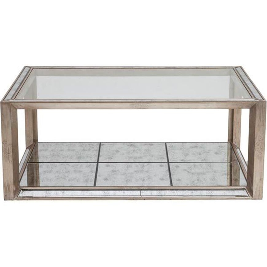 MEVIN coffee table 130x90 clear/gold