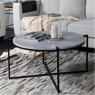 CROWNY coffee table d92cm white/black