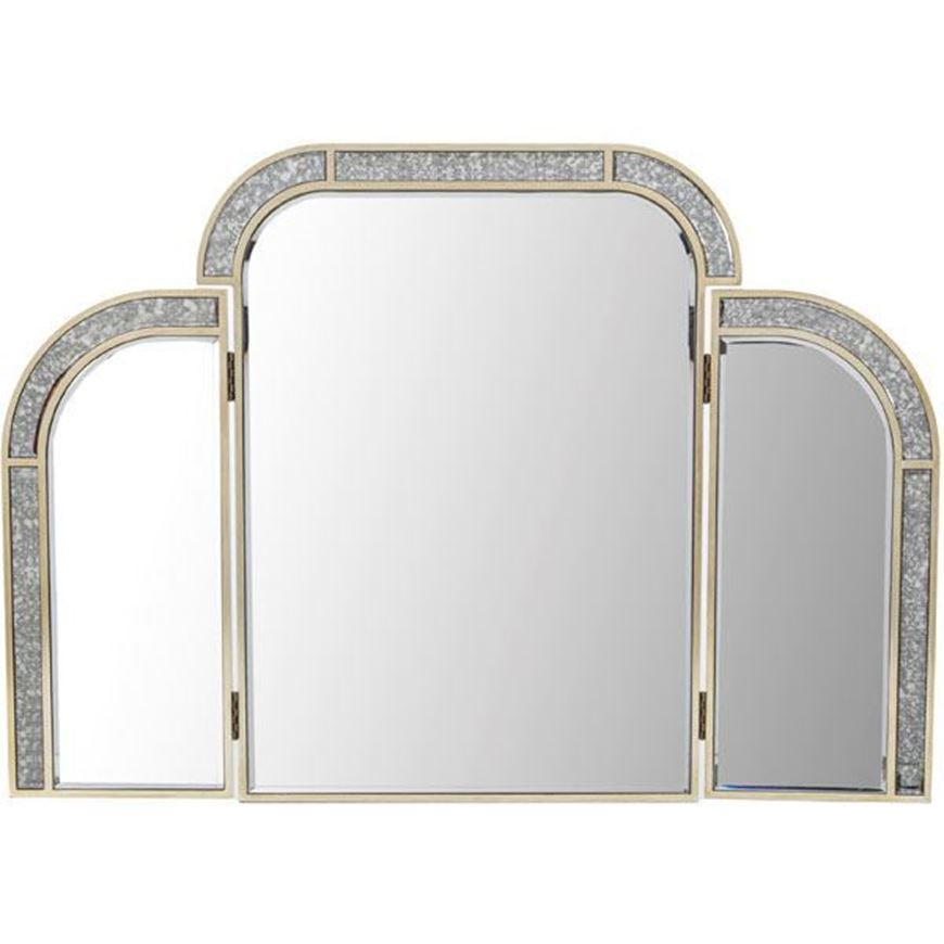 SALMI dressing table mirror 70x100 clear/gold