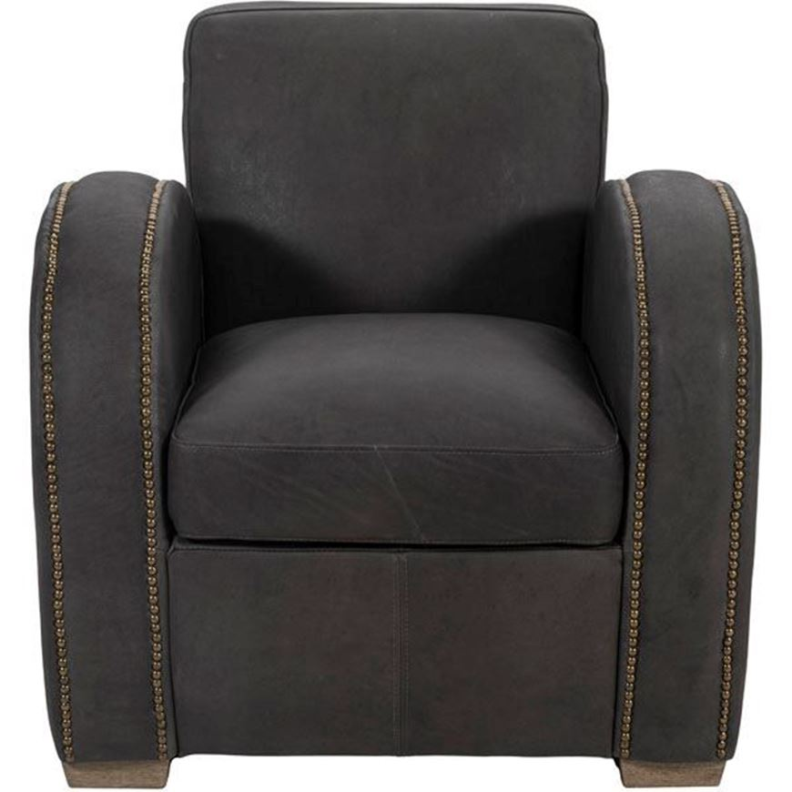 PIMM armchair leather brown