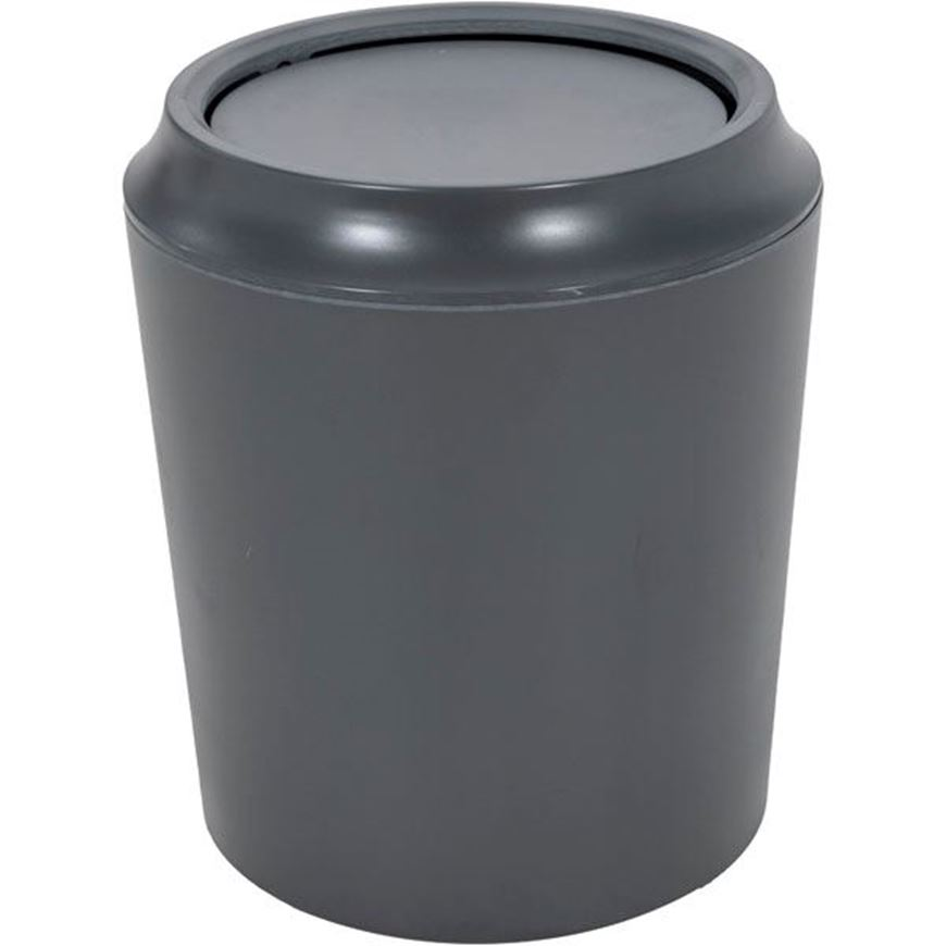 Picture of CORSA waste can with lid dark grey