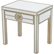 SALMI side table 55x40 clear/gold