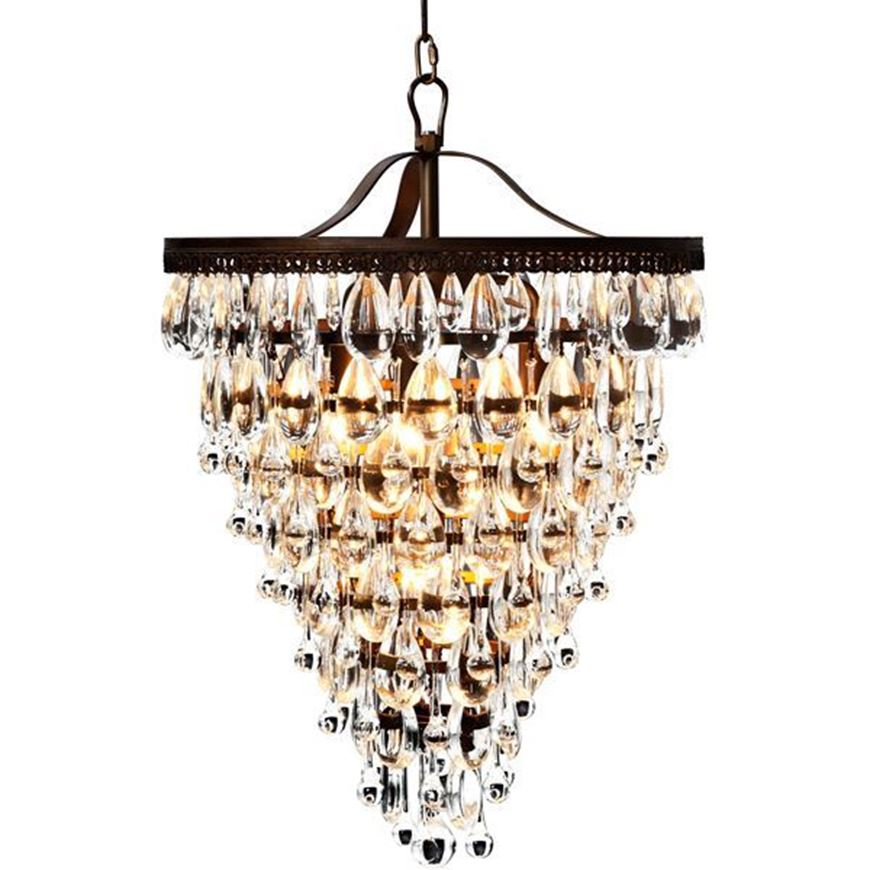 JAY chandelier d46cm clear/gold