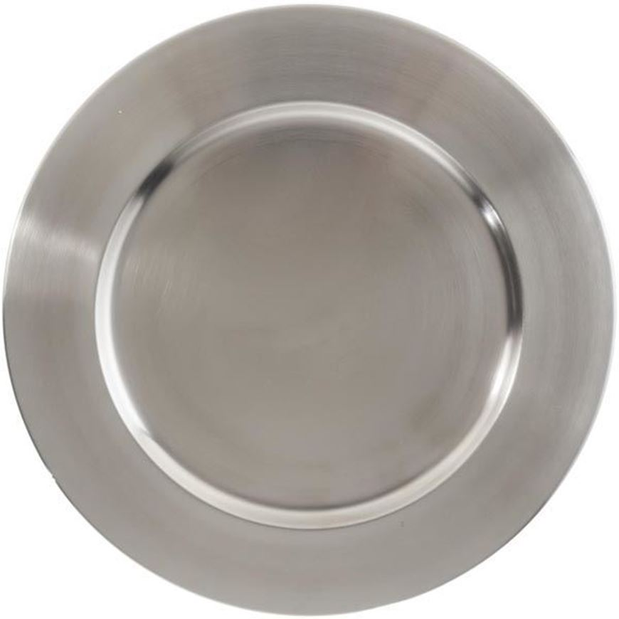 LASYA charger plate d35cm silver