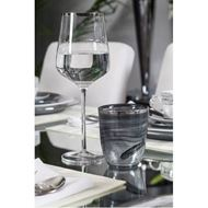 PLATIN stem glass h25cm set of 4 clear/silver