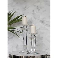 IVAN candle holder h40cm clear