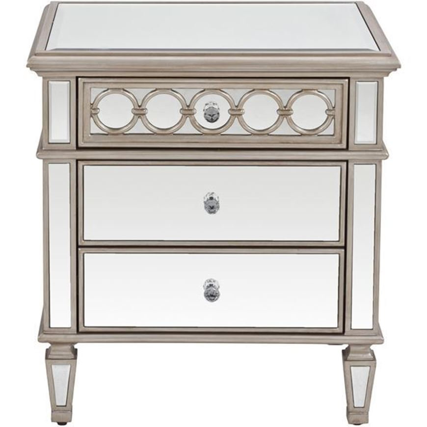 LINC bedside table clear/gold
