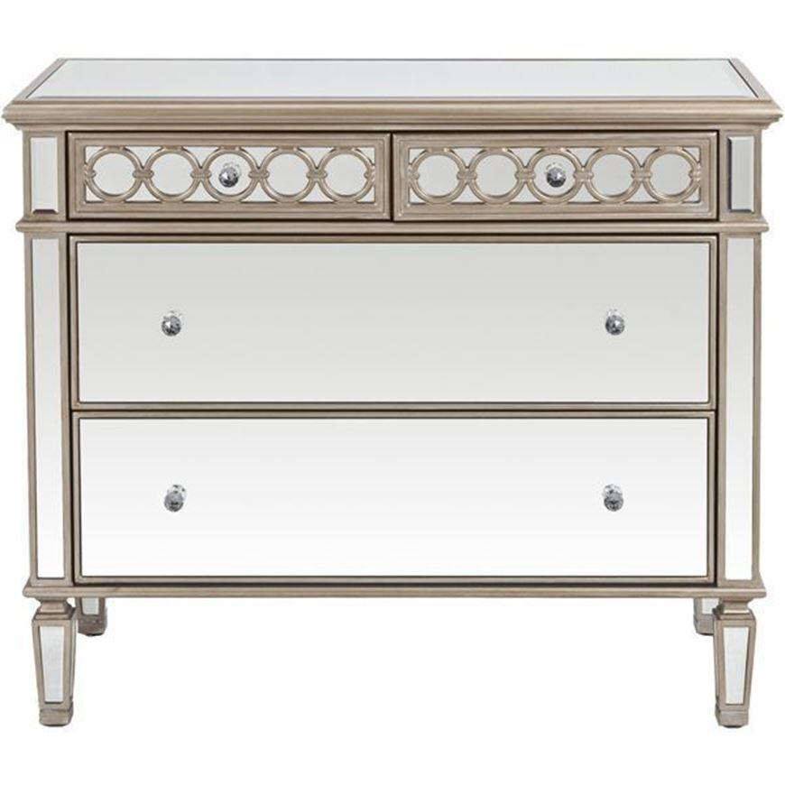LINC chest 4 drawers clear/gold