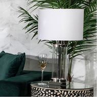 LAPIS table lamp h66cm white/stainless steel