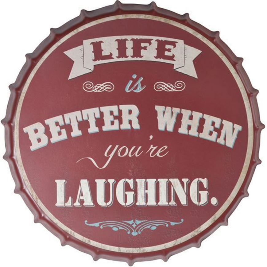 LAUGH wall decoration d42cm red