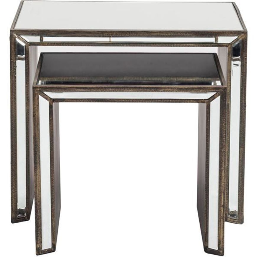 KONG nesting table set of 2 clear/bronze