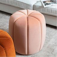 BERRY stool d47cm microfibre pink