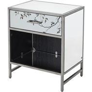 ROSLIN bedside table clear/silver