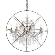 MAIL chandelier d96cm stainless steel