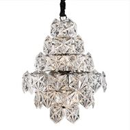 MIKU chandelier d46cm clear/nickel