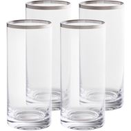 PLATIN hiball h15cm set of 4 clear/silver