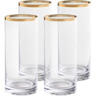 GULD hiball h15cm set of 4 clear/gold