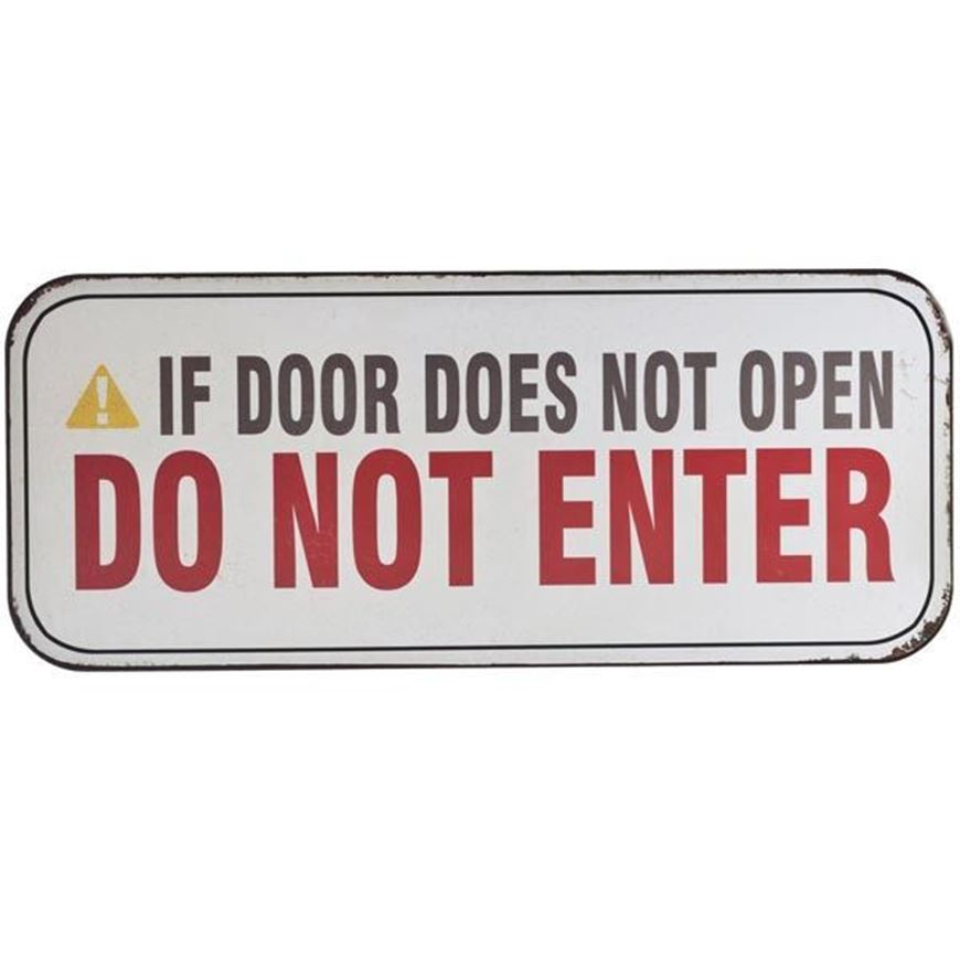 DO NOT ENTER wall decoration 31x13 white