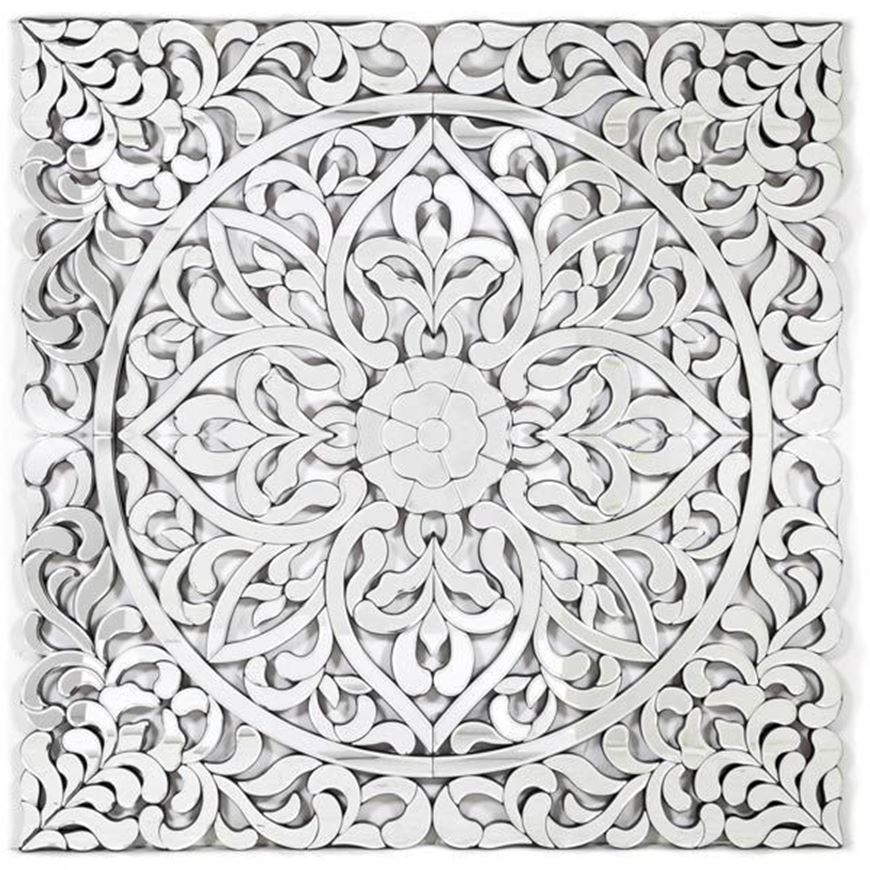 CARIE wall decoration 120x120 clear