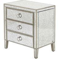 AVA bedside table grey/gold