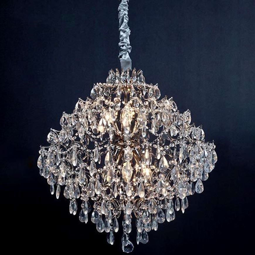 AMOS chandelier d64cm clear/silver