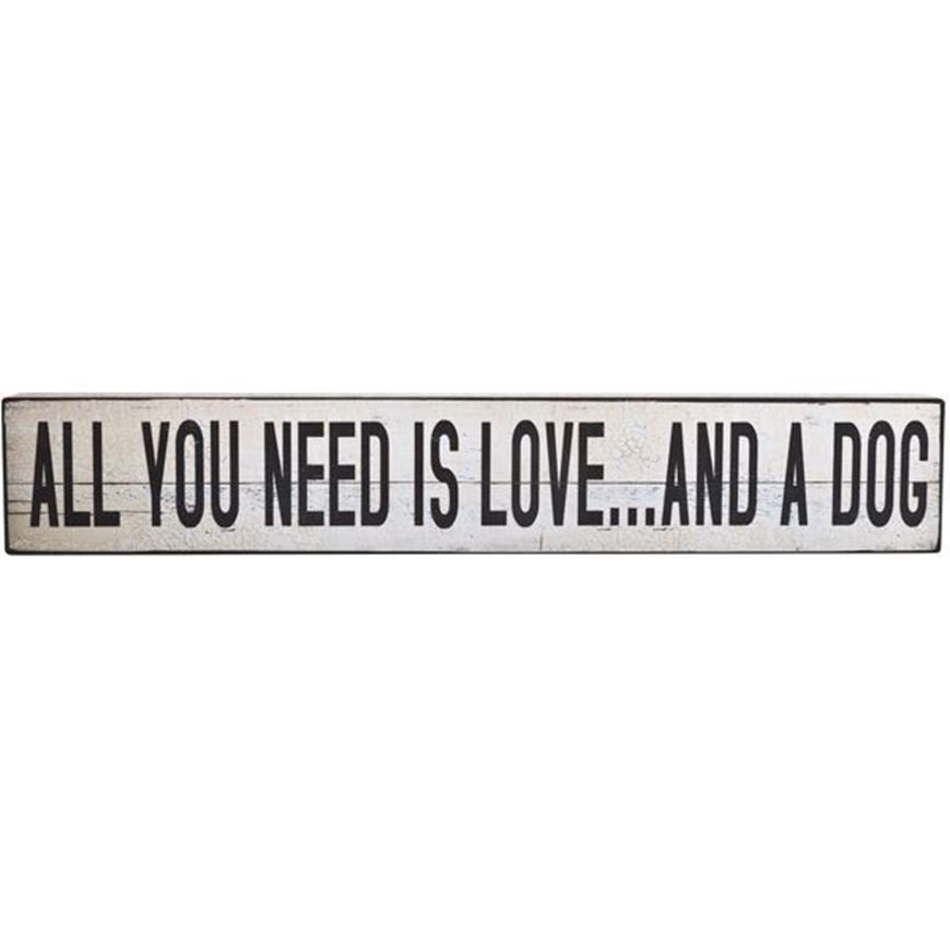 ALL YOU NEED wall decoration 13x76 white