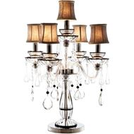 ROXY table lamp h74cm grey/silver