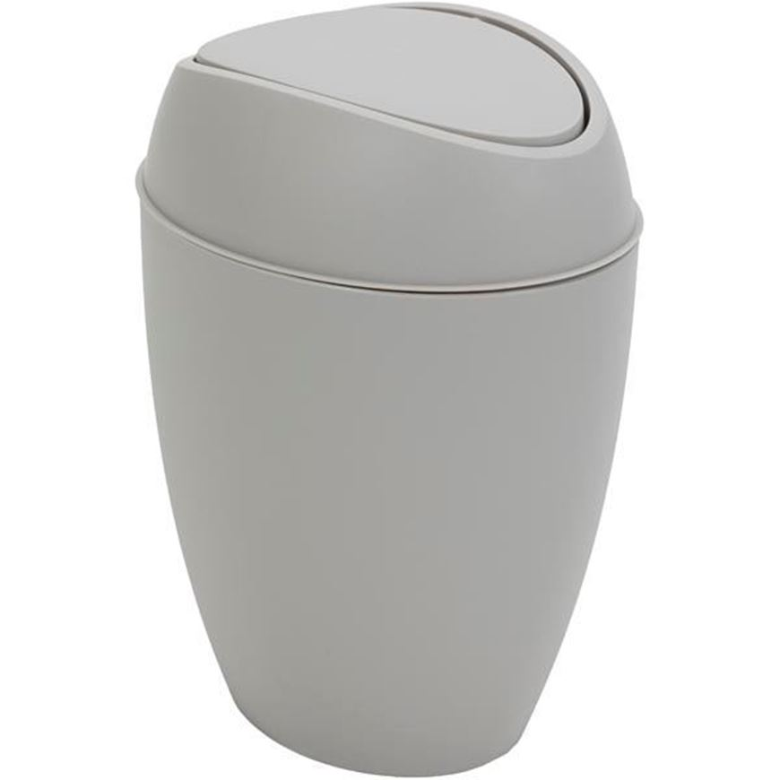 TWIRLA waste can with lid grey