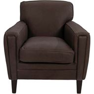 GREGORY armchair leather dark brown