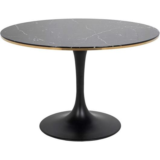 TRUMPET dining table d120cm black