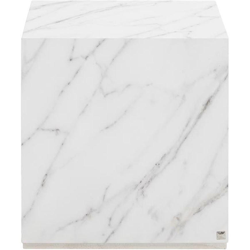 MARBO side table 40x40 white