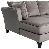 LOOS sofa 2.5 + chaise lounge Left microfibre taupe