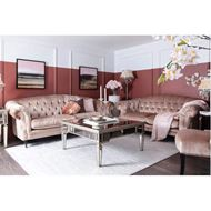 LOUIE sofa 3.5 pink