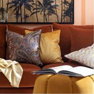 READ sofa 2.5 with Left arm microfibre rust