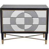 MOOD chest 3 drawers clear/black
