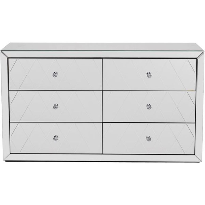 CRYSTAL chest 6 drawers clear