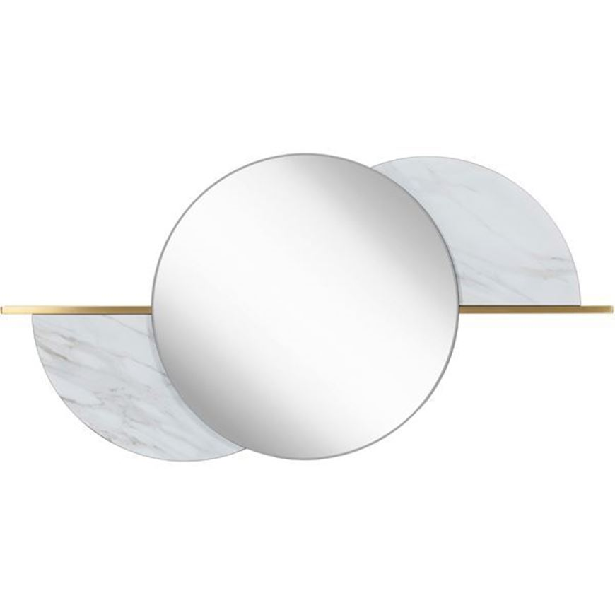 GEM mirror 120x60 clear/gold