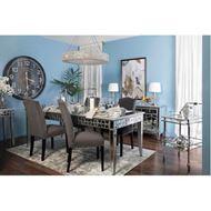 MIAKI dining table 220x100 clear/silver