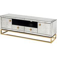 LOEN entertainment unit 59x180 clear/gold