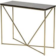 FAKO console 90x35 brown/gold