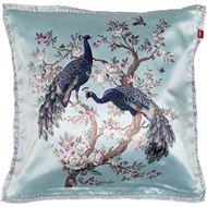 PEACOCK cushion cover 50x50 blue
