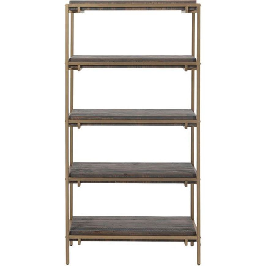 PAVS bookcase 162x81 grey/gold