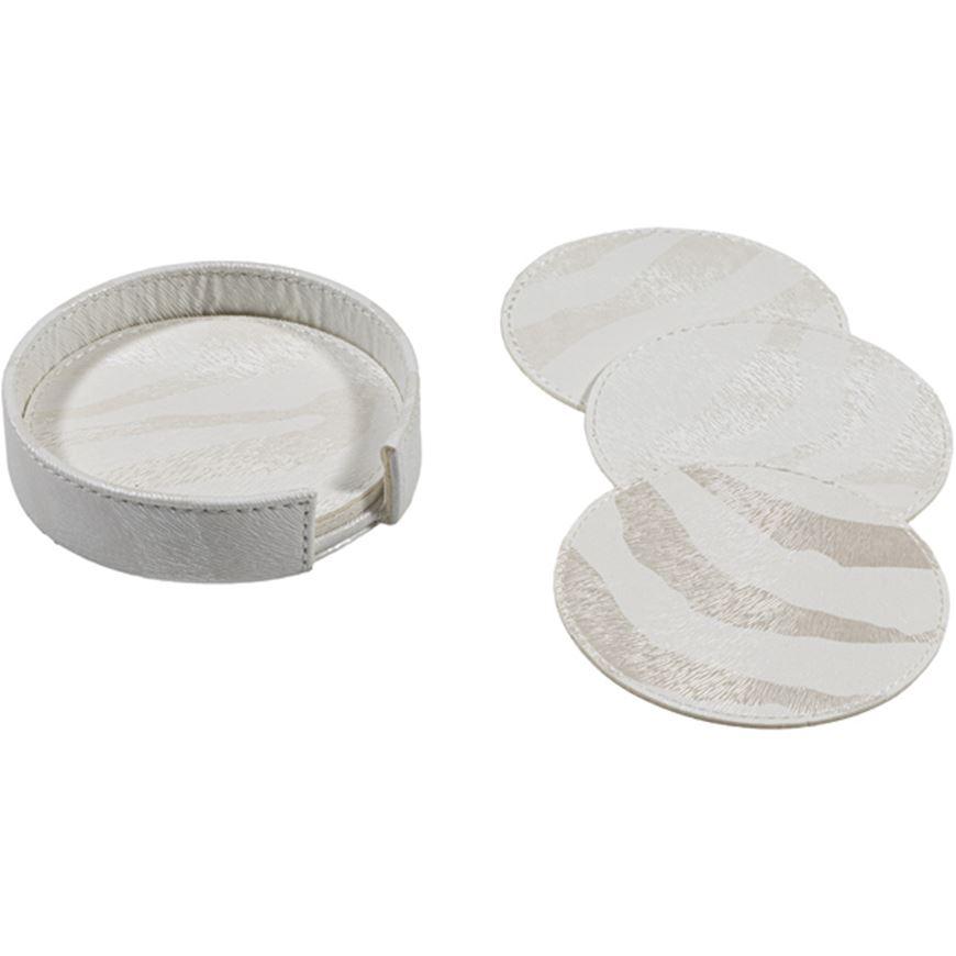 Picture of ZERA coaster d12cm set of 6 white