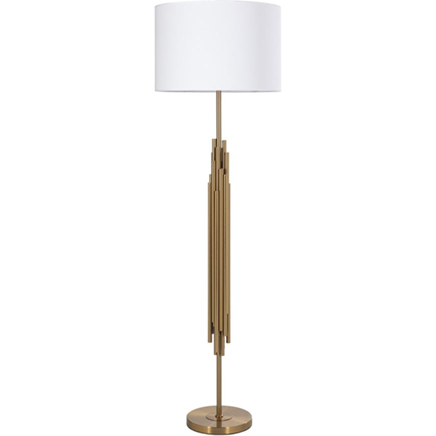 Picture of SPOOL floor lamp h155cm white/brass