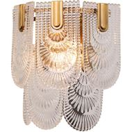 ELIM wall lamp h33cm clear/brass
