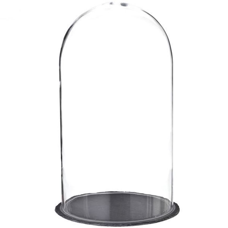 AFRA dome with base h52cm clear/black