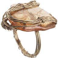 TAARA napkin ring gold/orange