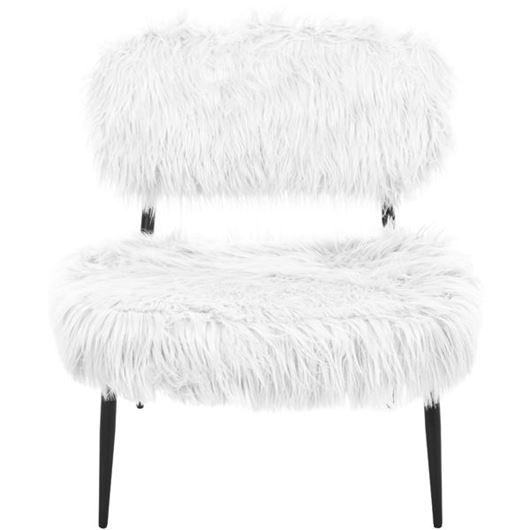 HAIRY armchair white