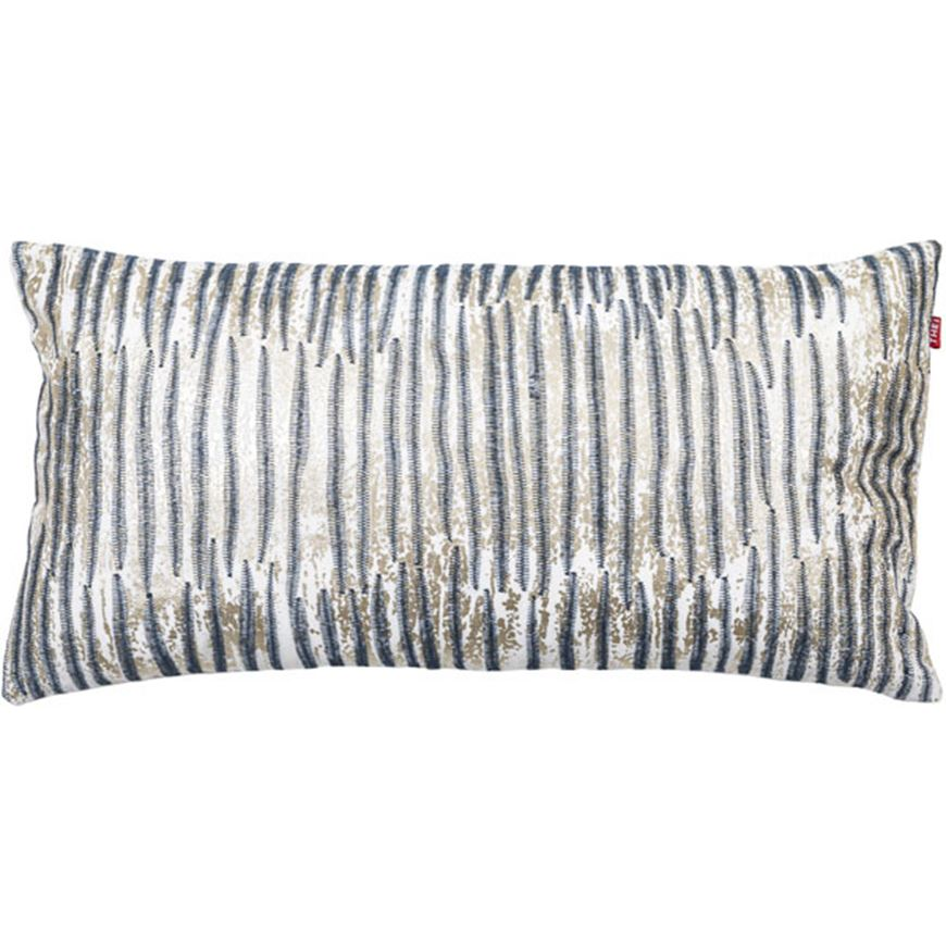 Picture of NATTY cushion cover 30x60 blue/cream