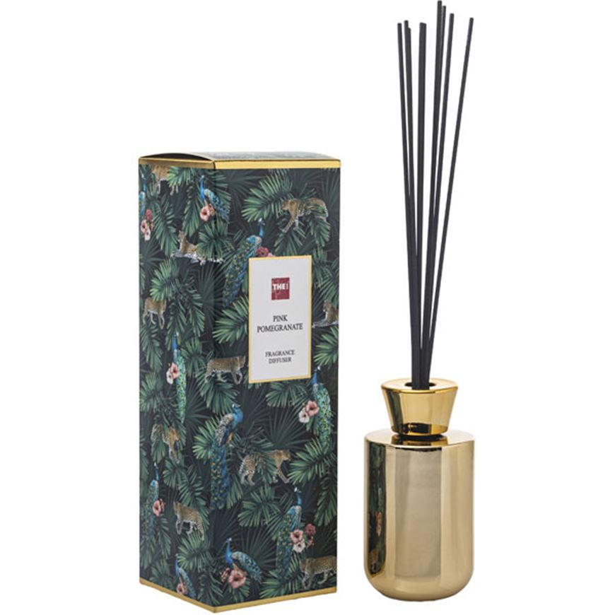 Picture of PINK POMEGRANATE diffuser 180ml gold